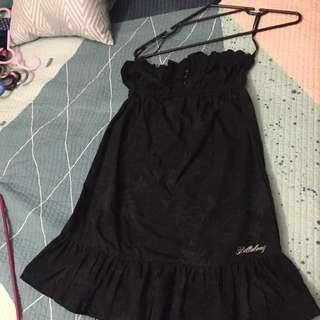 Billabong Black Strapless Beach Dress
