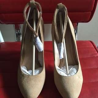 cream beige high heels