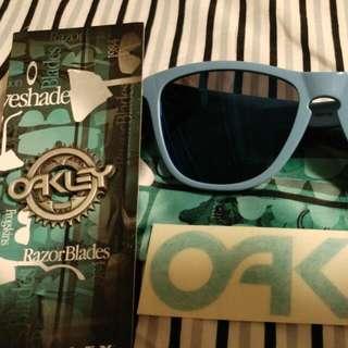 Authentic Oakley Frogskin.  Frame - Polished Blue,  Lens - Ice Iridium