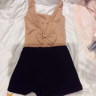 Open Back Ribbon Romper