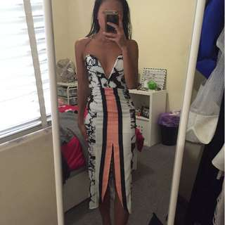 BNWOT Strapless Patterned Dress