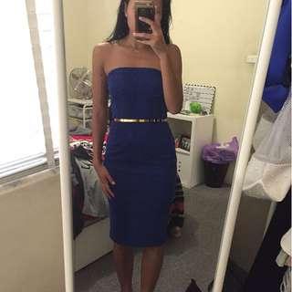 Blue Bandeau Dress