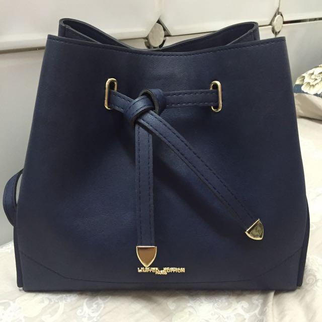 丈藍色肩背包 斜背包 手提包