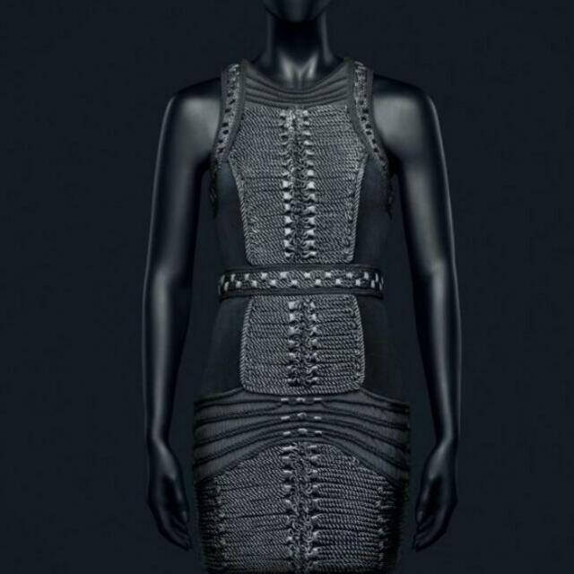 Balmain x H&M Black Rope Dress Size 14