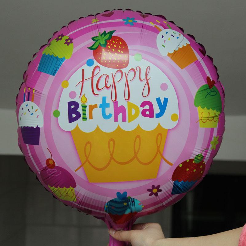 Balon happy birthday stawberry