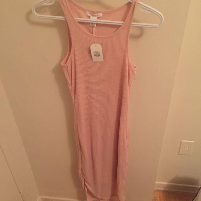 Peach Midi Dress