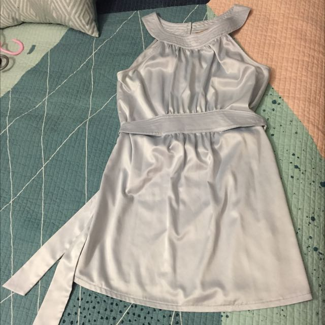 Cooper Street Dress Baby Blue/ Silver