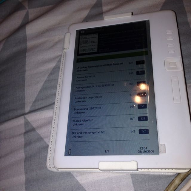 Electronic Book Reader!!!