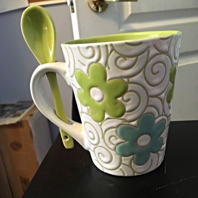 Glass Mug With Spoon