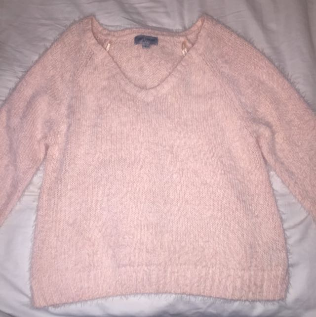 Just Jeans Mohair Fluffy Pink Jumper