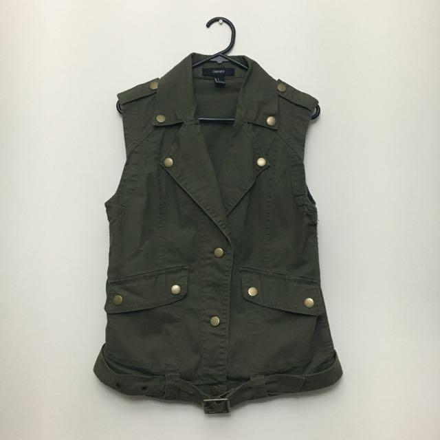Khaki Army Vest