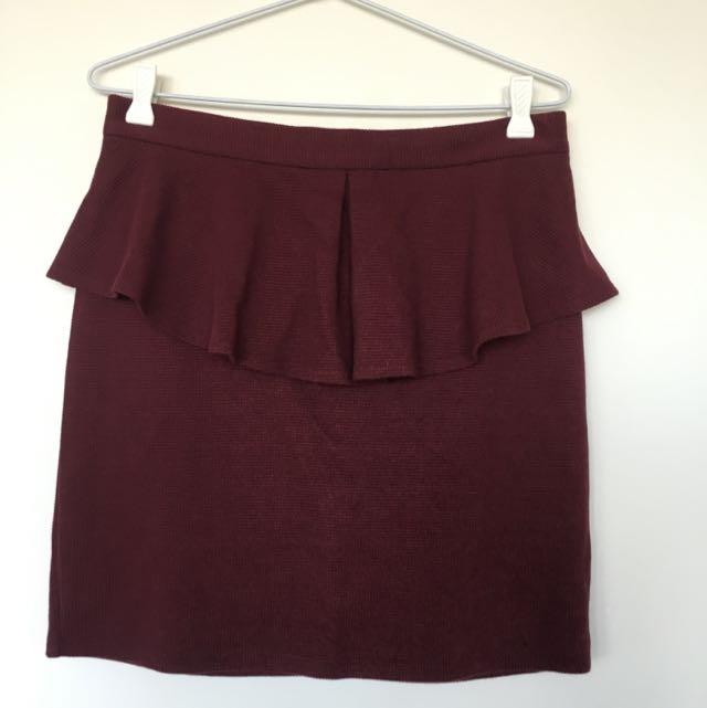 Ladakh Peplum Mini Skirt