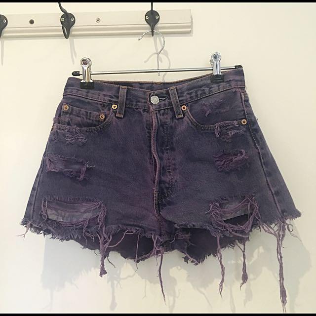 Levi's 501 Denim Distressed Shorts