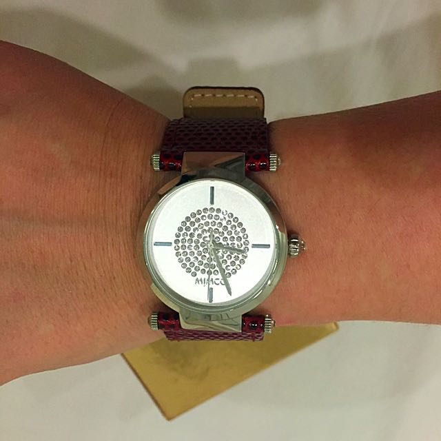 Mimco Leather Timepiece Watch