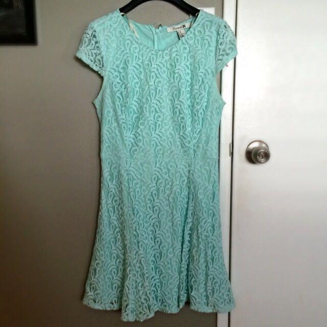 Mint Boteh Lace Dress