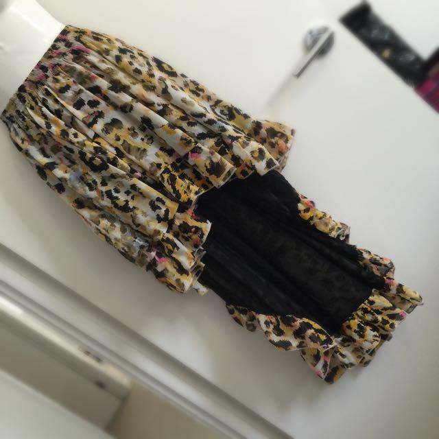 Mooloola Leopard Hi-Lo Skirt