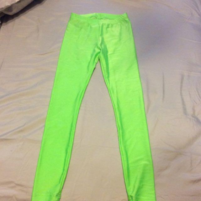 Neon Green American Apparel Leggings