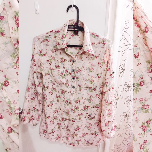 Oversized Floral Polo