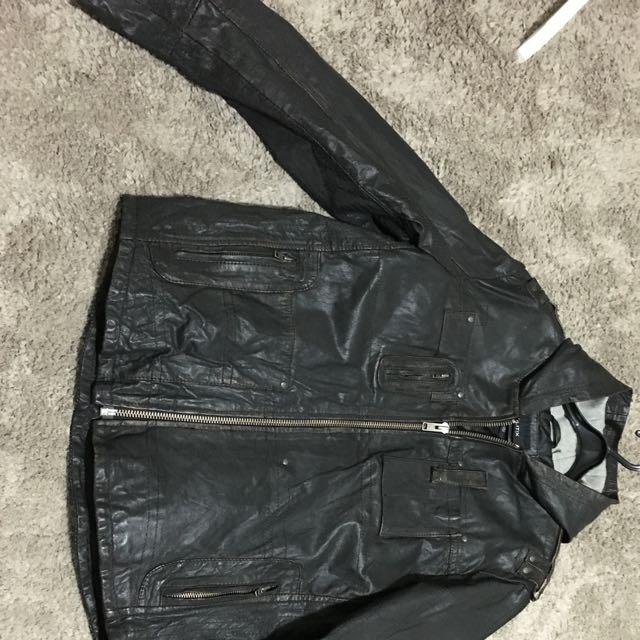 Politix Leather Jacket XL