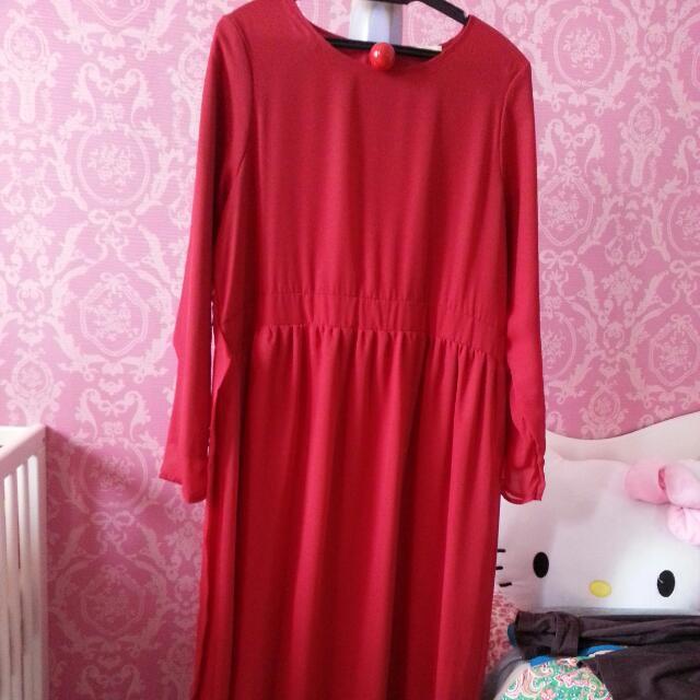 Bianca Maxi Dress - Deep Red