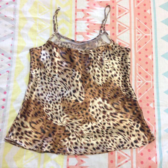Satin Shirt Leopard patterns