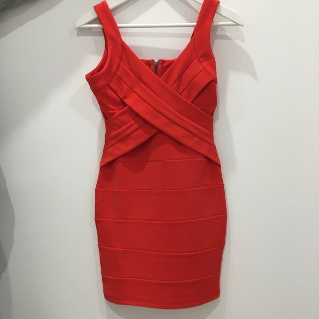 Size 8 Orange/peach Dress