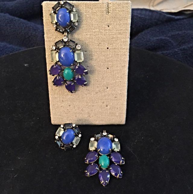 Stella & Dot Hematite Earrings