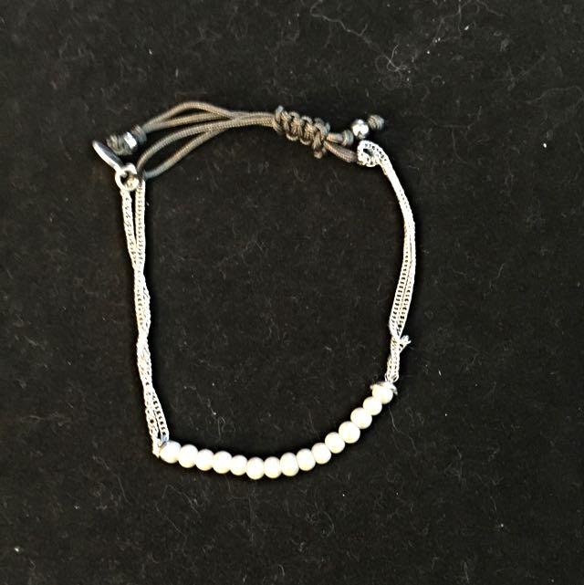 Stella & Dot Silver Delicate Bracelet