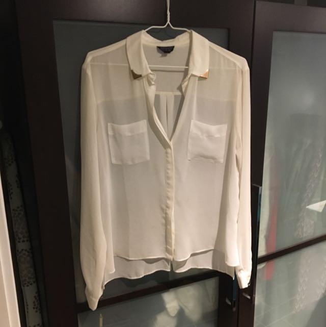 Topshop Chiffon Shirt