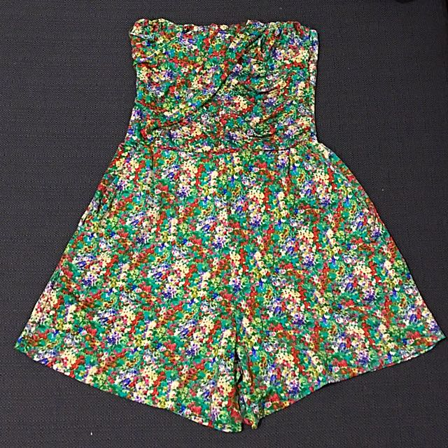 Tube Floral Play suit