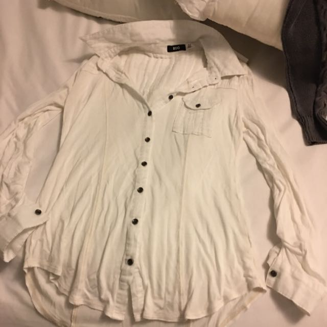 White Button Up From Urban Outfitters Size Small