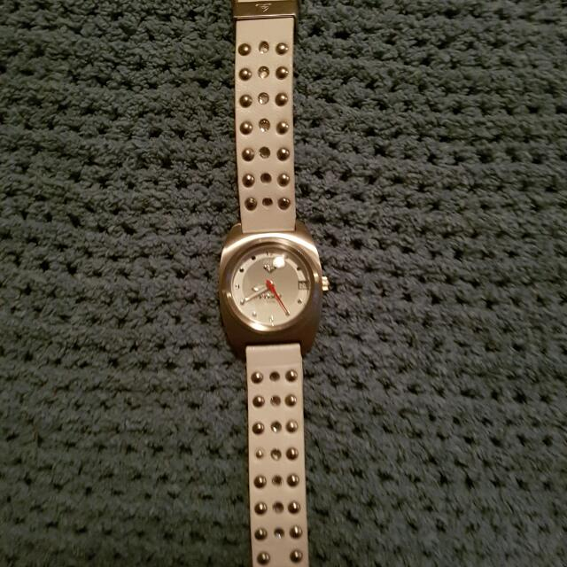 White Leather Roxy Watch