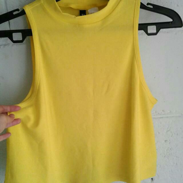 Yellow Crop Top H&M