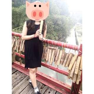 全黑設計感洋裝