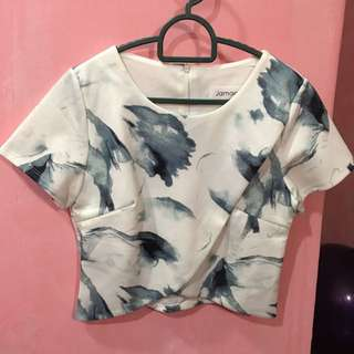 Watercolour Cropped Top