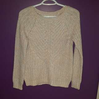 Dynamite Pink & Mint Knit Sweater