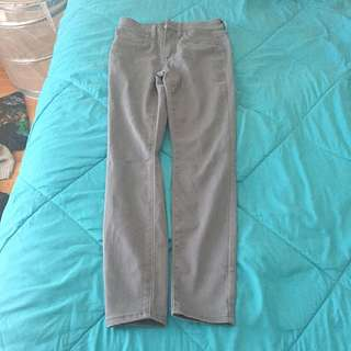 Grey High Waisted Jeans