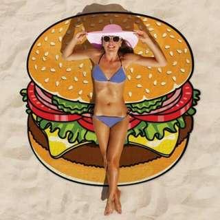 漢堡沙灘墊