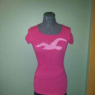Pink Hollister T Shirt