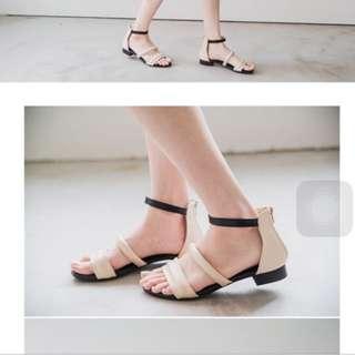 全新轉賣starmimi裸色涼鞋 36號 nude 小安 mooncat