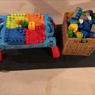 Lego Table And Blocks