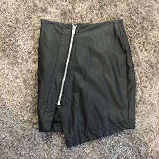 Bardot Black Leather High Waisted Skirt