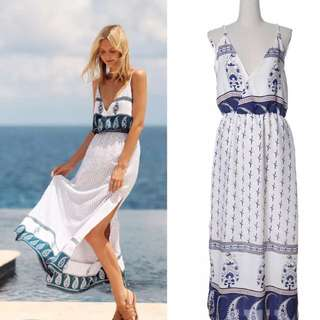 New S/M/L Long V-Neck Beach Dress