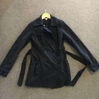 Jay Jays Black Trench Coat Size 6