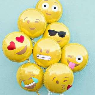 Balon Foil Emoji Atau Emoticon