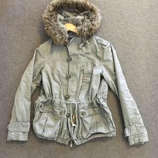 Khaki/grey Coloured Jacket Size 8-12