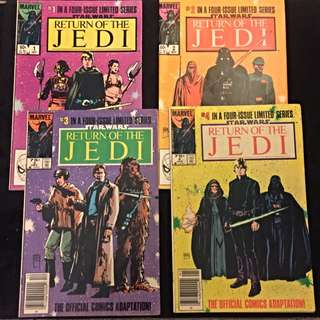 Vintage Star Wars Comics 1-4 Series. 1983-1984