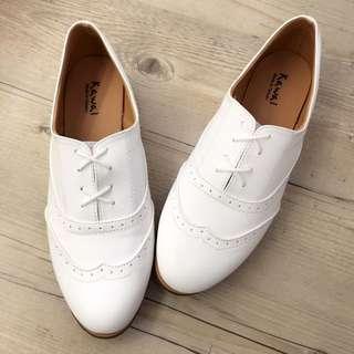 台灣手工平底學生牛津鞋