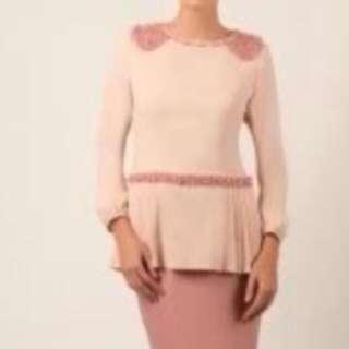 Jovian Mandagie kurung top only, pink