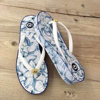 海洋渡假風夾腳拖鞋